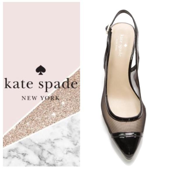 9908253a36 kate spade Shoes   Like New Katespade Slingback Patent Mesh Pumps 8 ...
